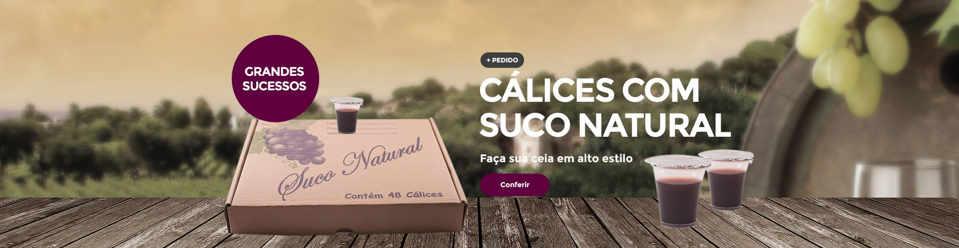 Cálices com Suco Natural