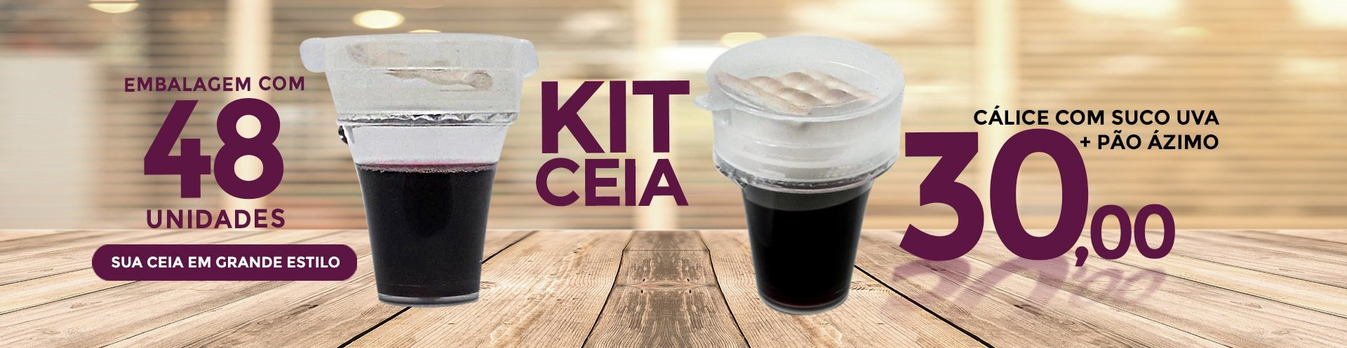 Kit Ceia - Suco + Pão Ázimo