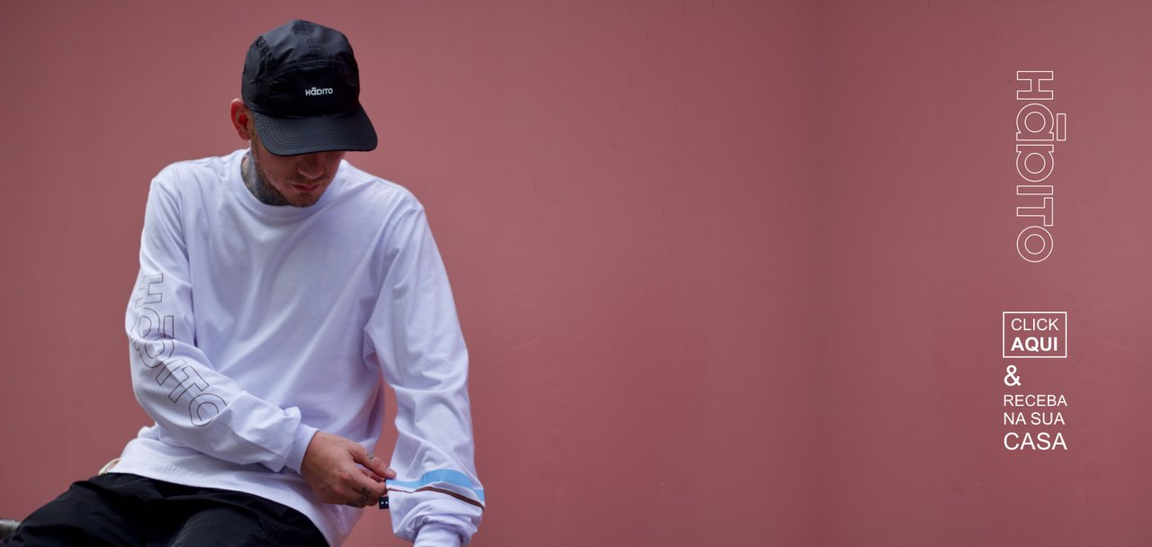 Camiseta Hábito Manga Longa
