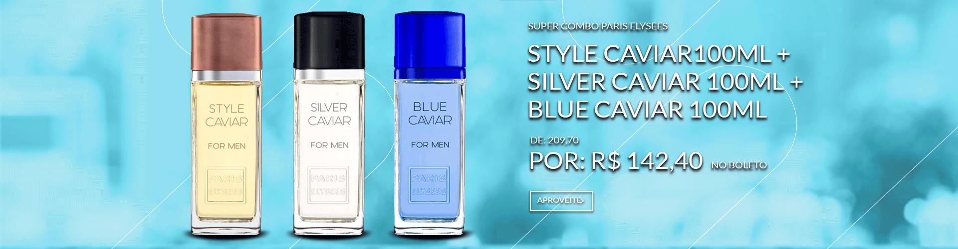 Combo Paris Elysees Style Caviar 100ml + Silver Caviar Caviar 100ml + Blue Caviar