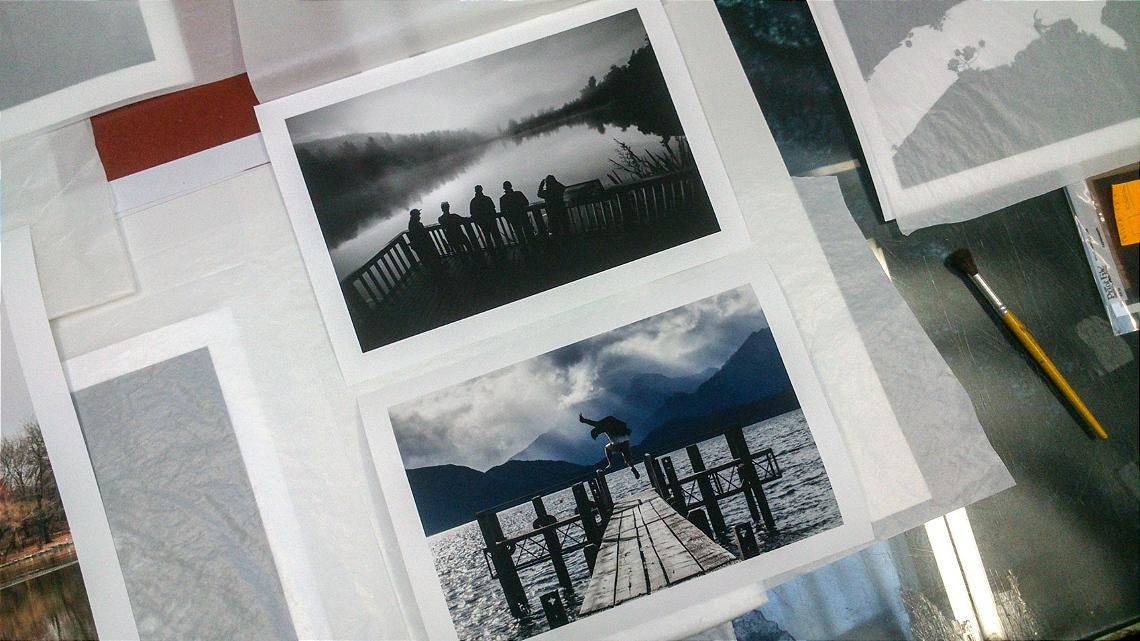 fotos impressas mesa