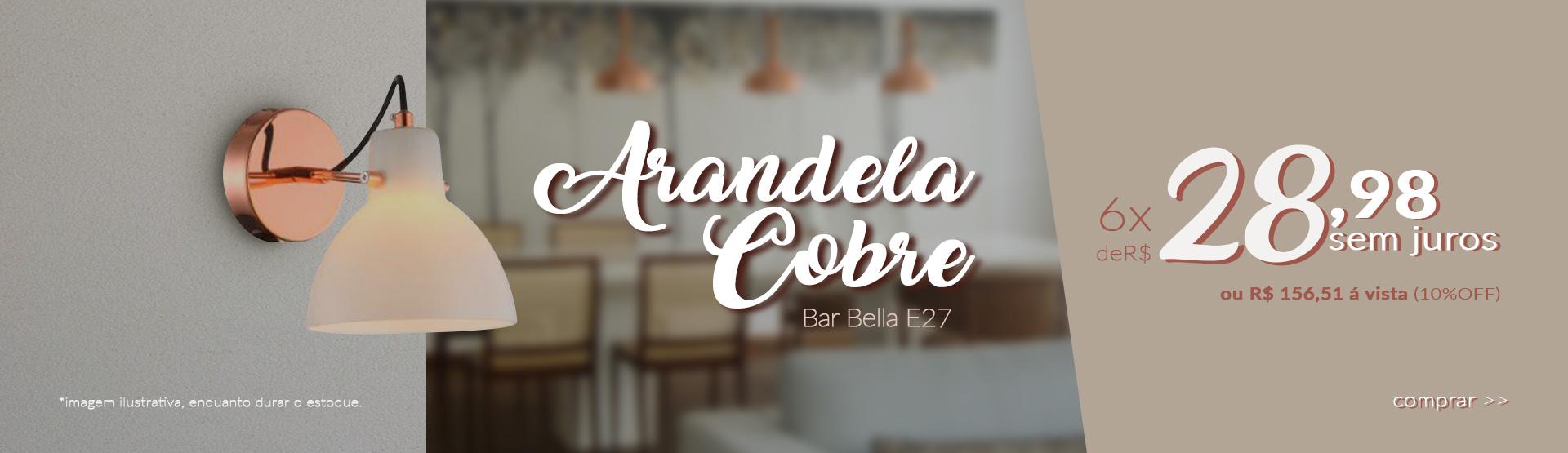 Arandela Bar Cobre
