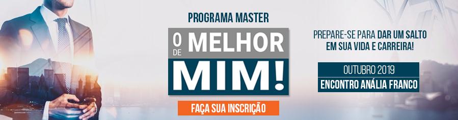 """PROGRAMA MASTER """"O MELHOR DE MIM"""" - Encontro Anália Franco"""