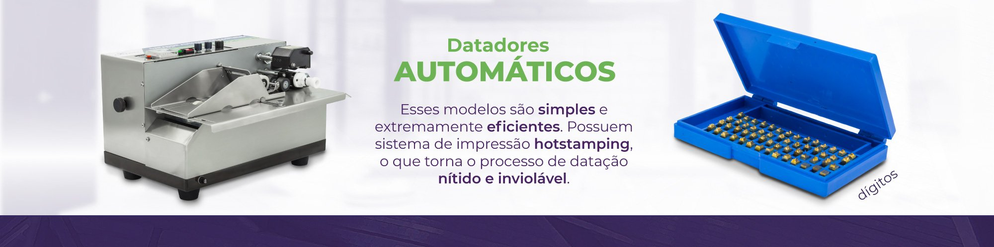 Categorias - Datadores Automáticos