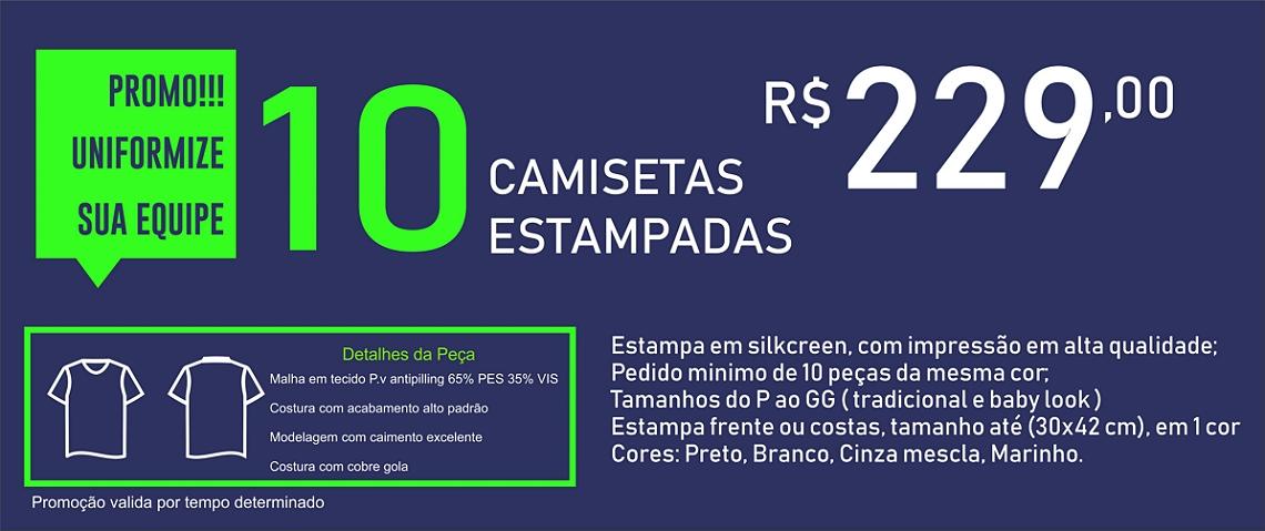 PROMO CAMISETA 10 PEÇAS