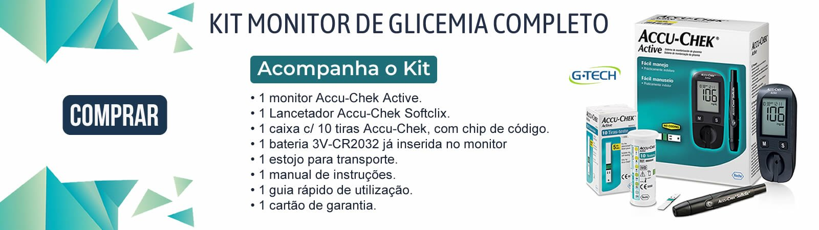 Kit Monitor de Glicemia G-tech