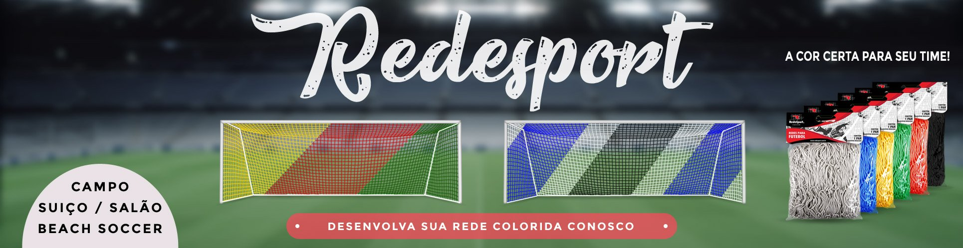Rede Trave Clubes Poliéster cores