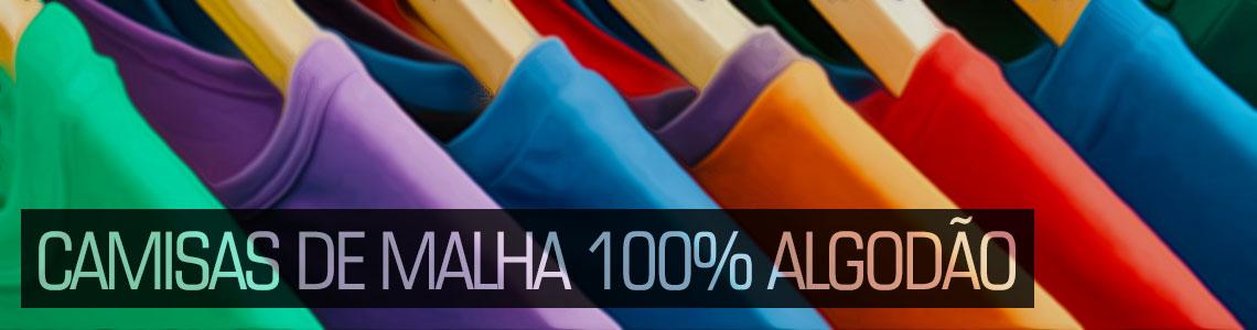Camisas de malha 100% algodão
