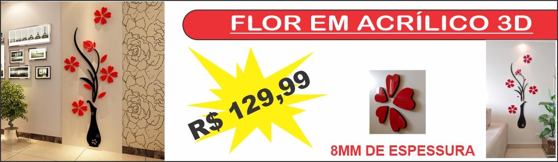 Banner flor 3d acrilico