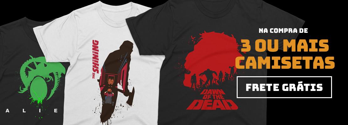 3 Camisetas = Frete Grátis (TERROR)