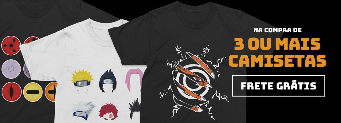 3 Camisetas = Frete Grátis (JUN/2020)