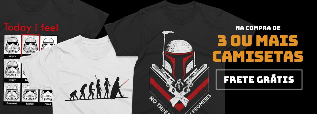 3 Camisetas = Frete Grátis (JAN/2020)