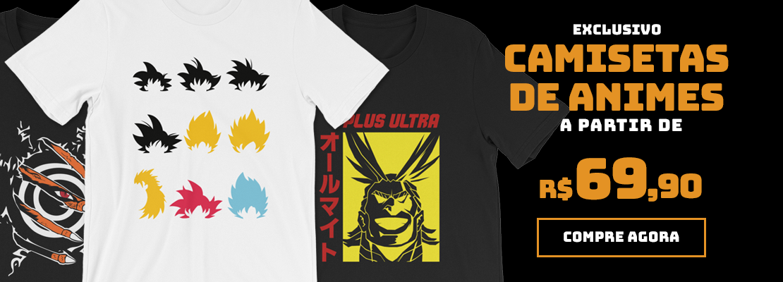 Camisetas de Animes (OUT-DEZ/2019)
