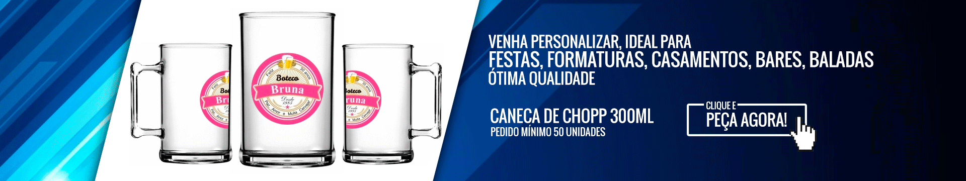 Full Banner Caneca de chopp de 300 ml
