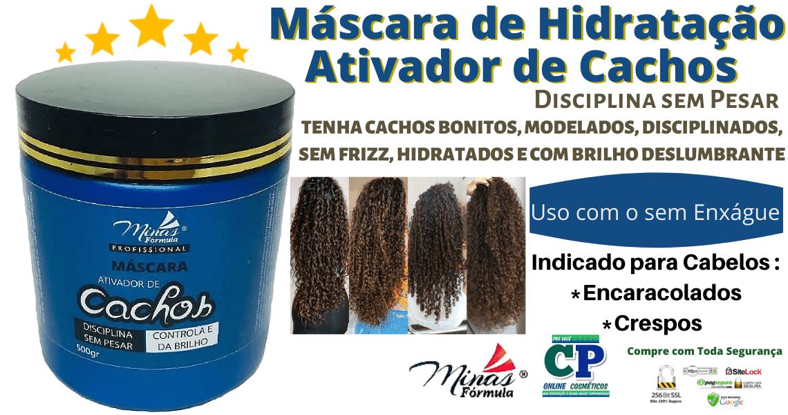 Máscara de Hidratação Ativador de Cachos 500g - Minas Fórmula