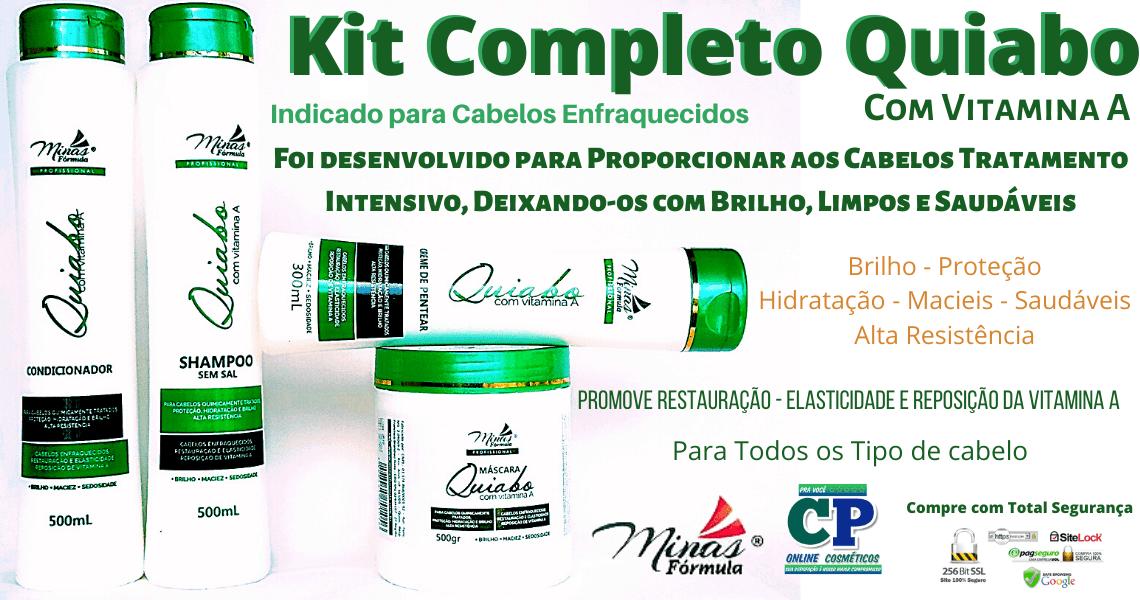 Kit Completo Quiabo com Vitamina A - Minas Fórmula