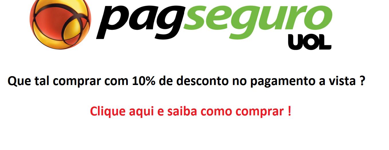 10 % de desconto Pag Seguro