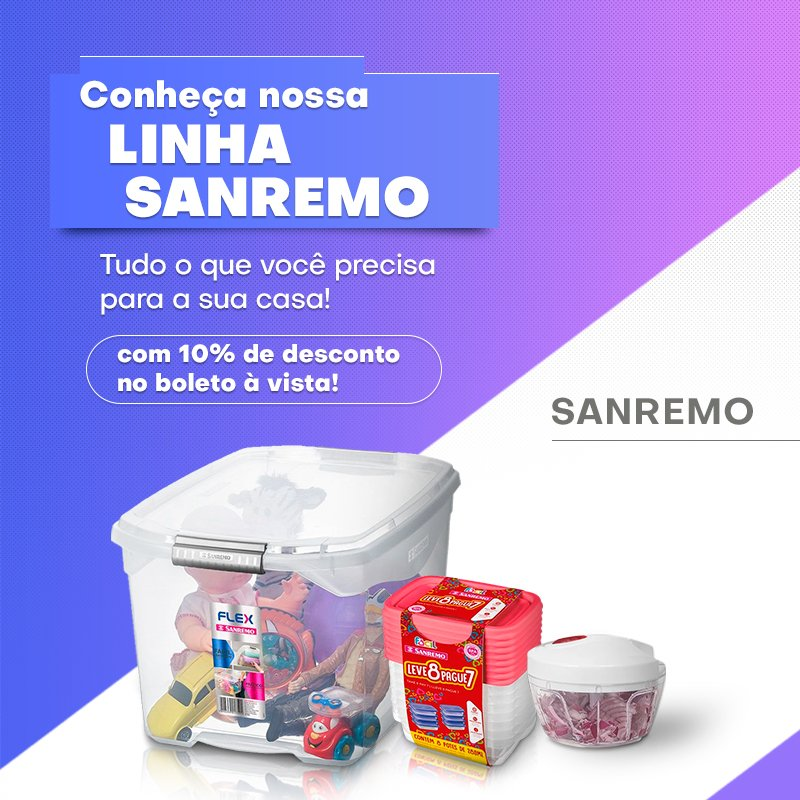 Principal Sanremo 50% de desconto- Mobile