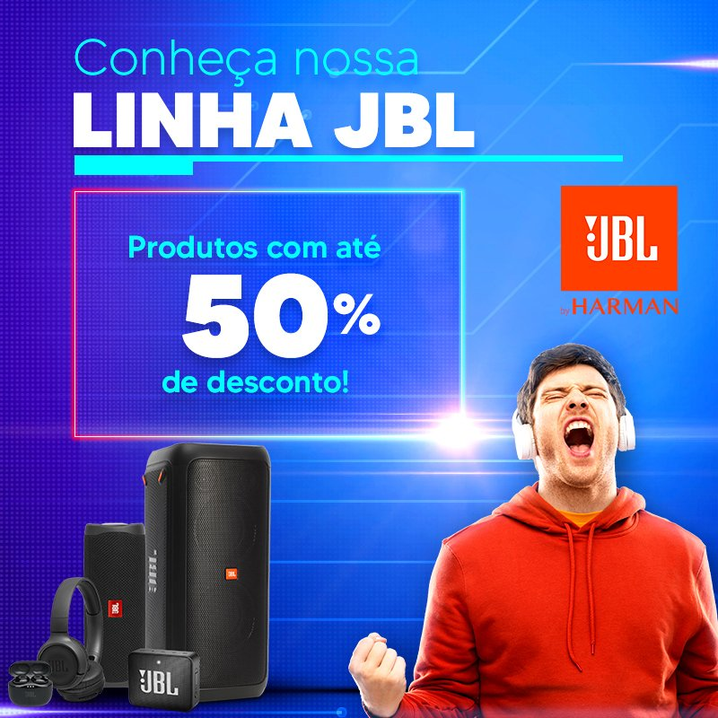 Principal JBL 50% de desconto- Mobile