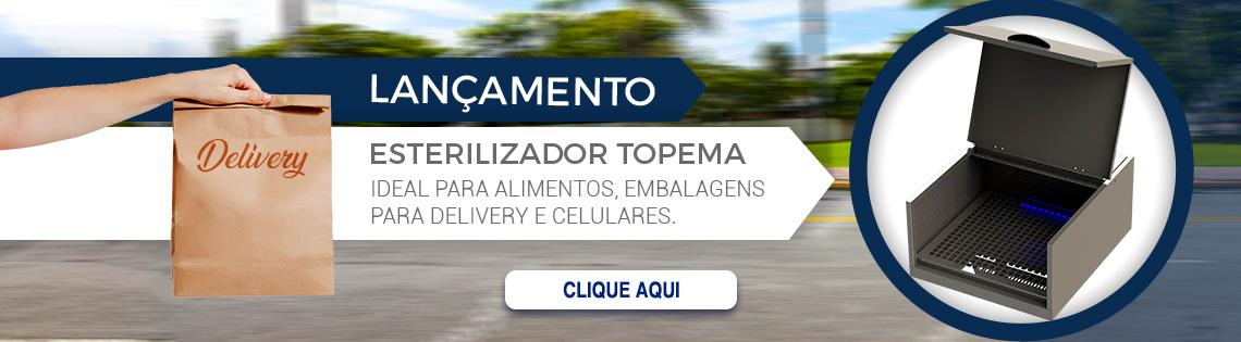 Esterilizador de alimentos, celulares e embalagens para delivery