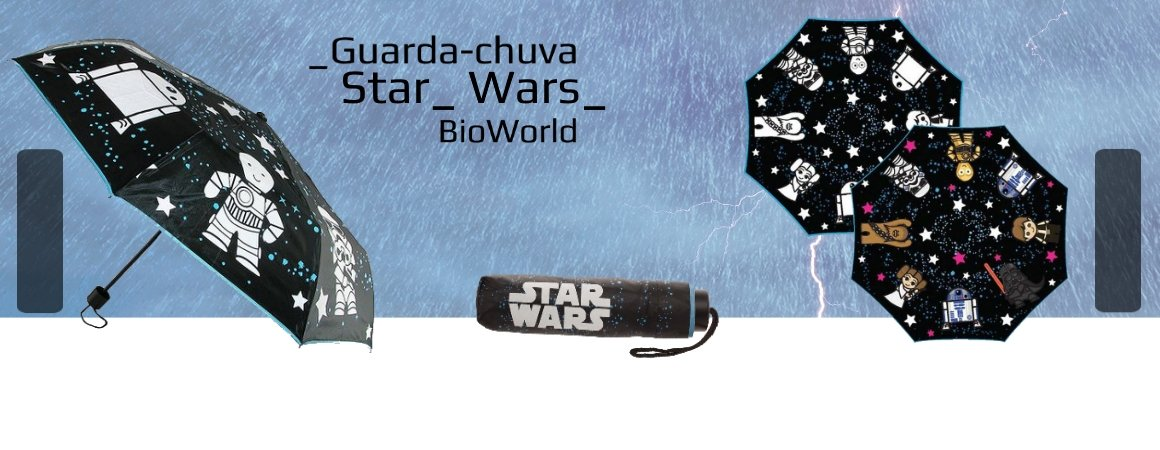 Guarda-Chuva Color-Changing Star Wars Trilogia Clássica 91,4 x 53,3 cm