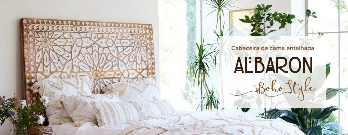 cabeceira de cama albaron boho style