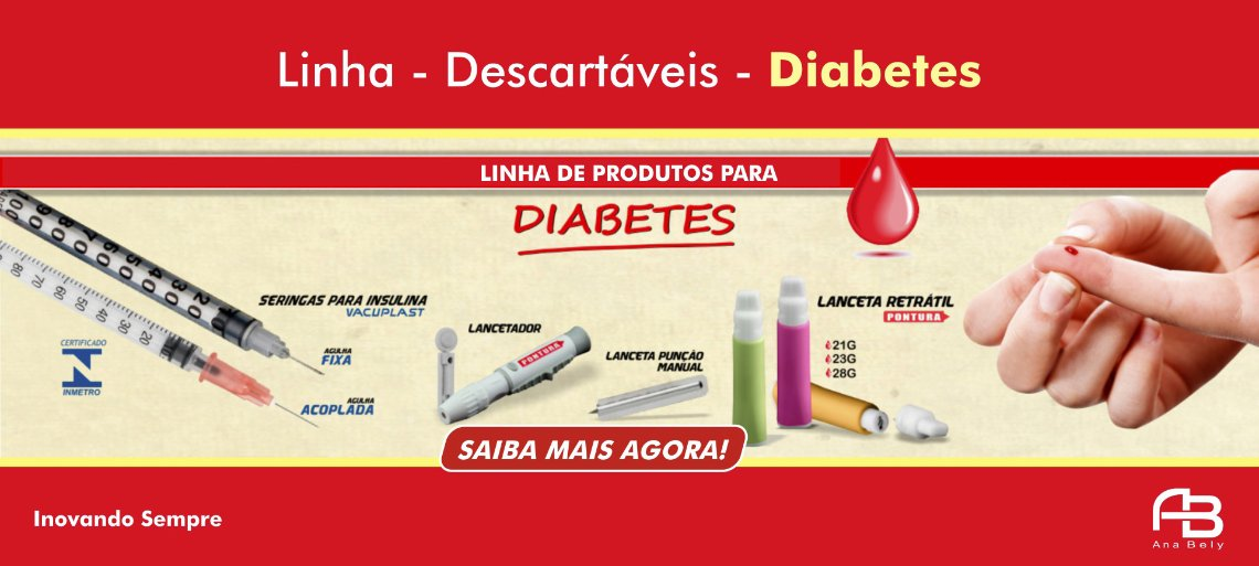 Lanceta de segurança e Seringa para insulina