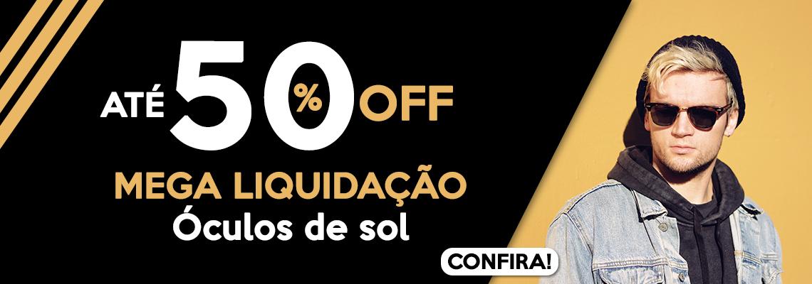 Banner 50% mega liquidação 10/07