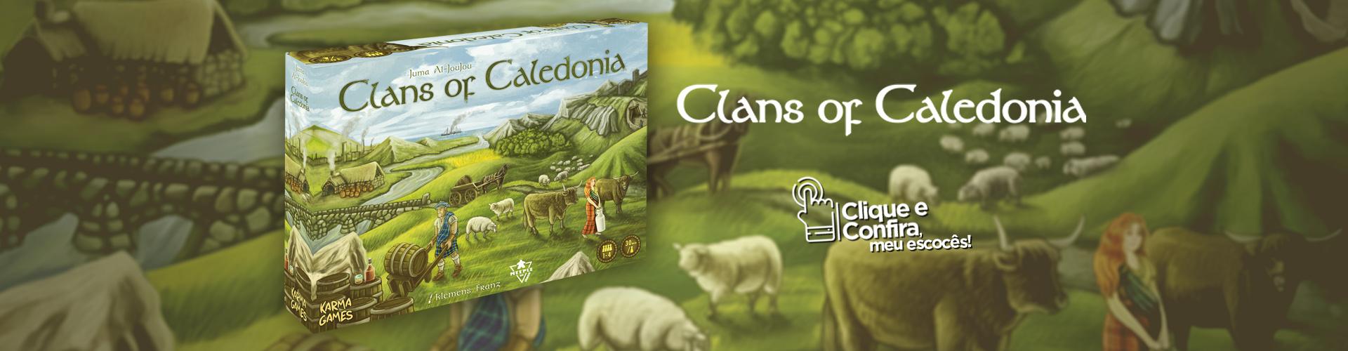 Pré-venda: Clãs da Caledonia
