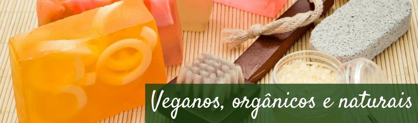 Produtos veganos, orgânicos e naturais - Sabonetes e escovão