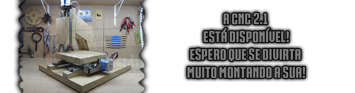 Kit MDF CNC 2.1 + Trilhos + Parafusos + Feltro - Marlon Nardi Oficial