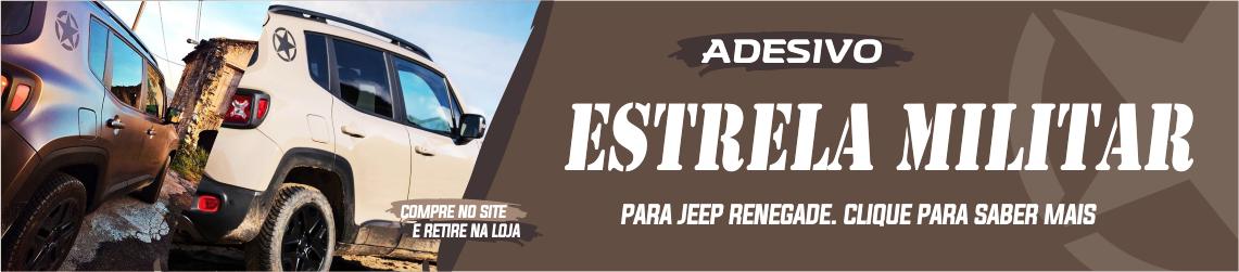 Banner Adesivo estrela militar Jeep Renegade Hawk Edition
