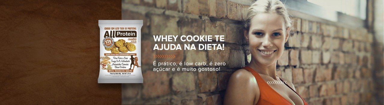 Whey Cookie Pasta de Amendoim