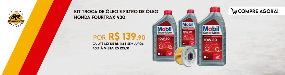 Kit Troca de Óleo e Filtro de Óleo Honda Fourtrax 420