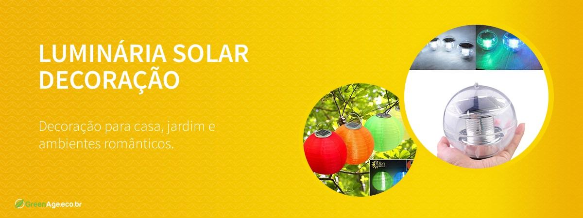 Luminárias solar decoração casa, jardim
