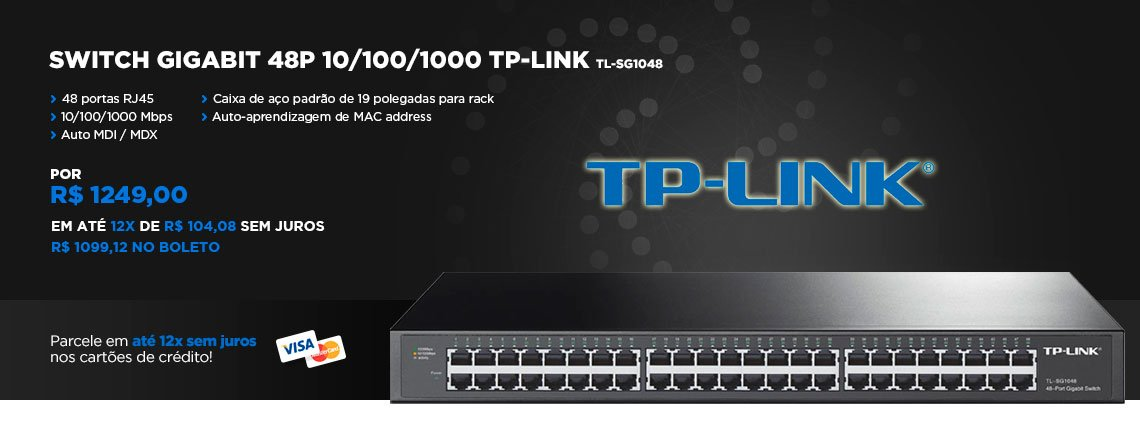 Switch Gigabit 48p 10/100/1000 TP-LINK TL-SG1048