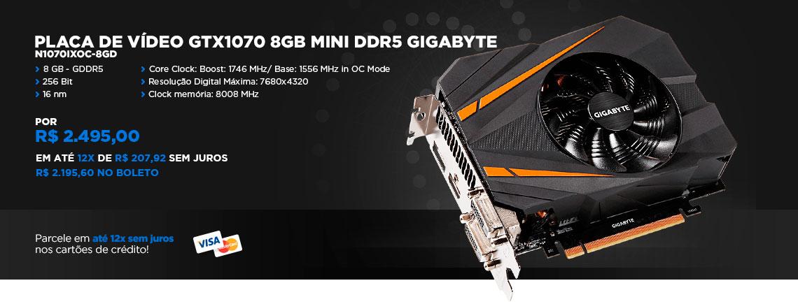 Placa de Vídeo GTX1070 Mini