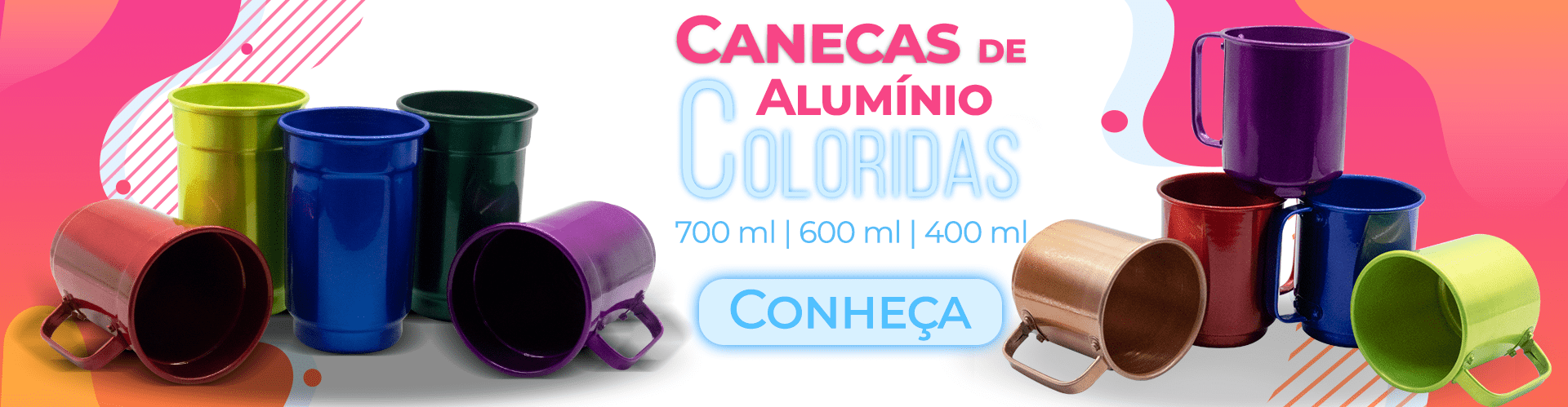 Caneca de ALUMINIO COLORIDA