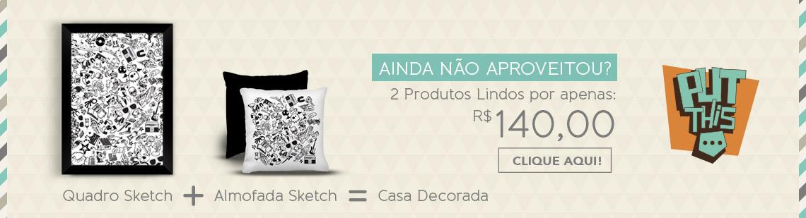 Promoção Quadro + Almofada Sketch