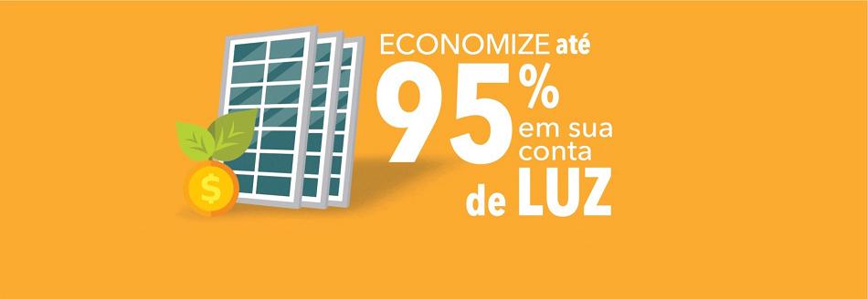 economize até 95% na sua conta de energia