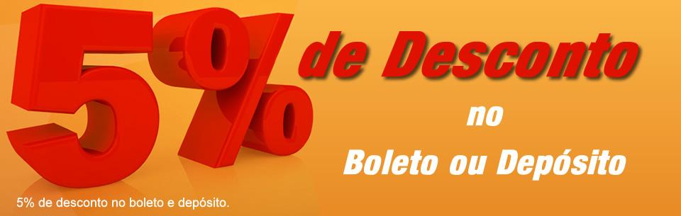 5% de desconto deposito