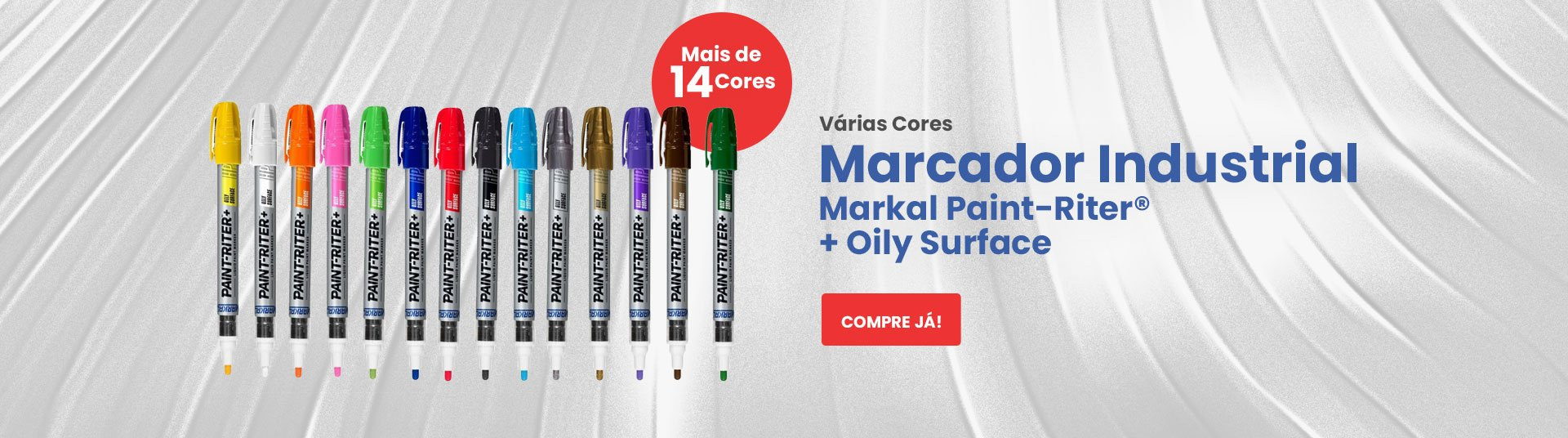 Marcador Industrial Markal Paint-Riter® + Oily Surface