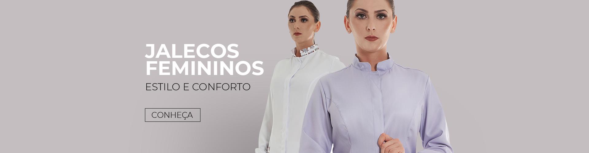 Jalecos Femininos - Banner inicial