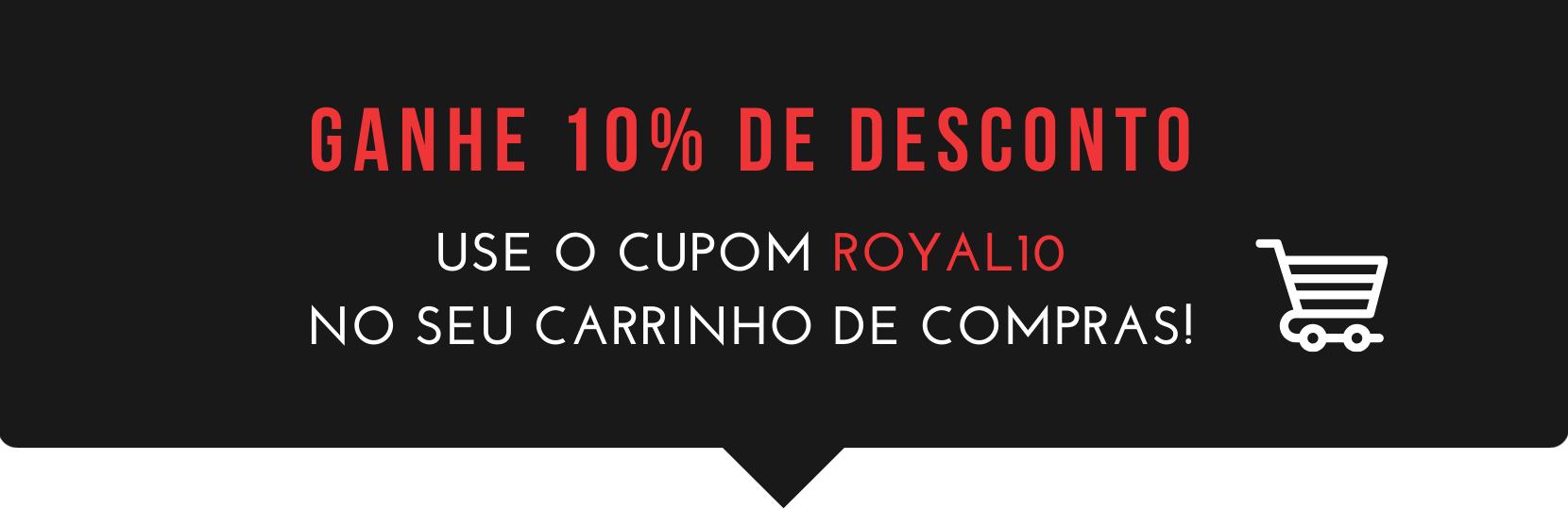 Cupom 10% OFF