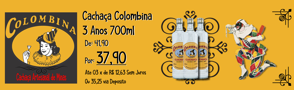 Cachaça Colombina 3 Anos 700ml