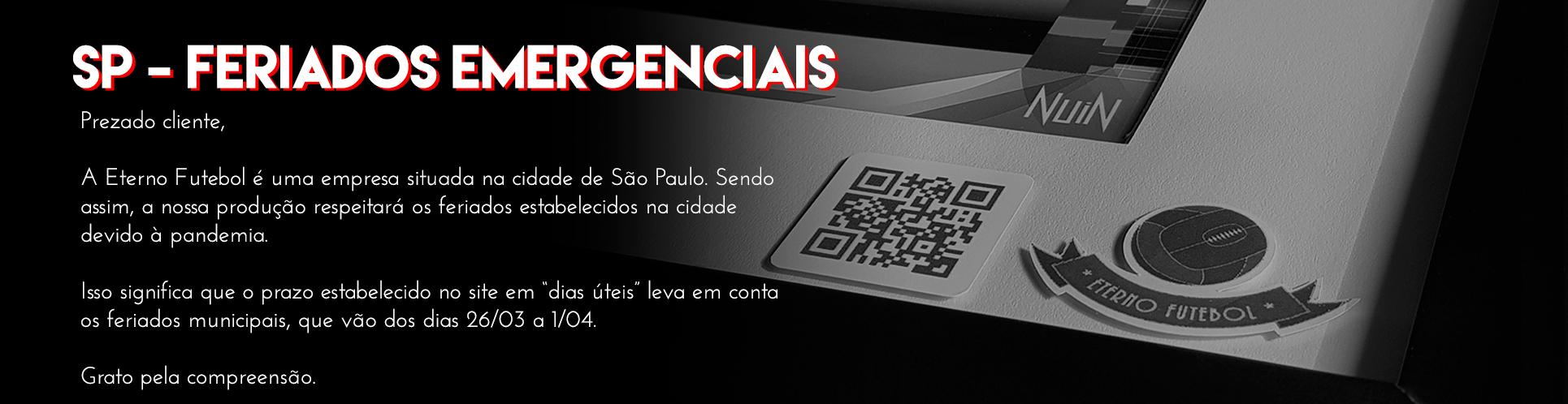 SP Feriados emergenciais