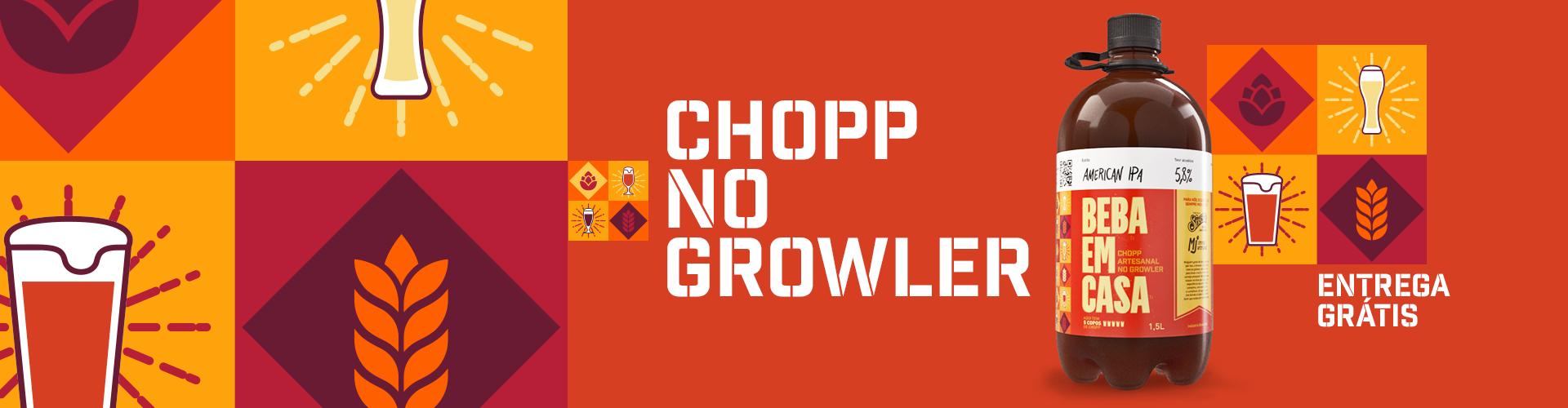 Chopp no Growler