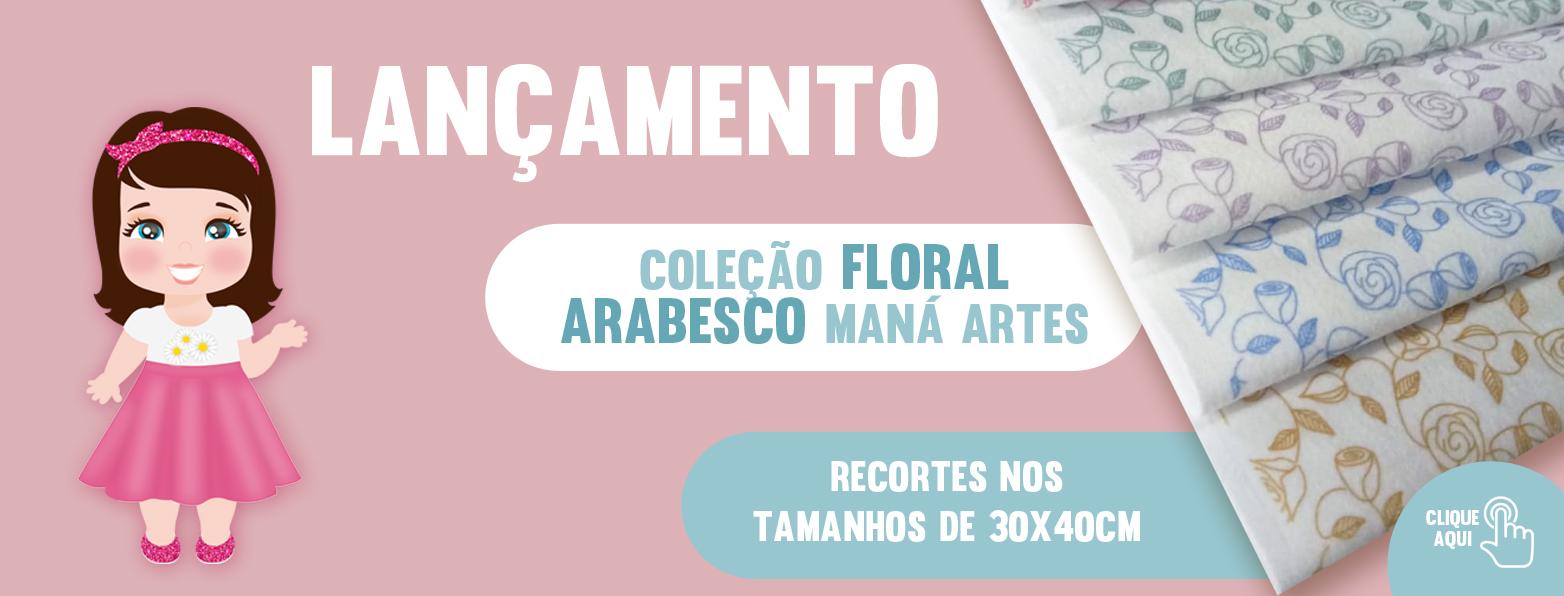 COLEÇÃO FLORAL ARABESCO - FUNDO BRANCO