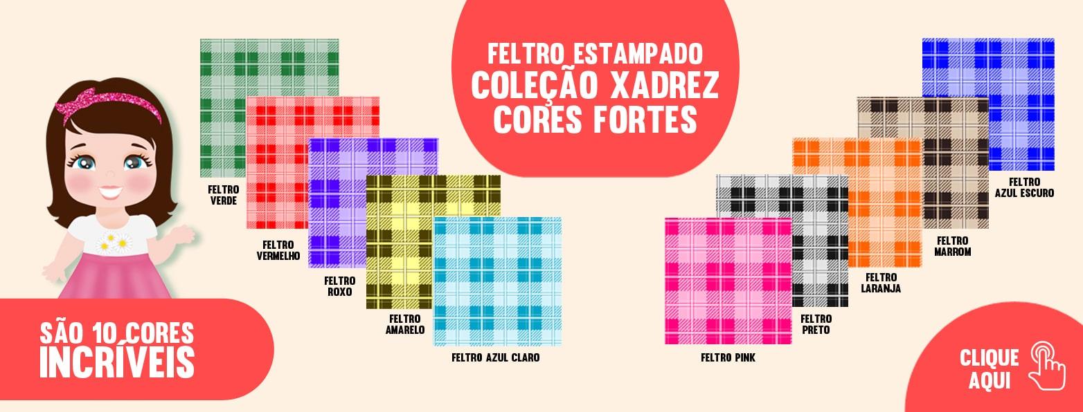 COLEÇÃO XADREZ CORES FORTES