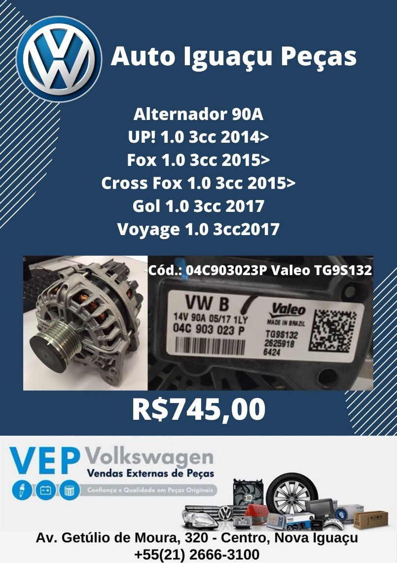 Alternador Fox Gol Voyage Up!